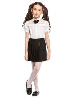 Блузка с коротким рукавом для младшей школы