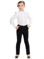 Блузка с длинным рукавом для младшей и средней школы
