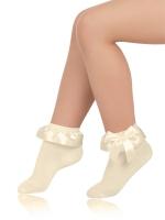 Носки детские хлопковые с кружевом SAA-1401